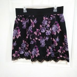 Elle floral mini skirt